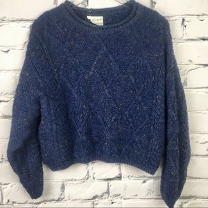 Cladyknic Sweaters - CELTIC CLOTHING Pure Wool Cropped Vintage Sweater